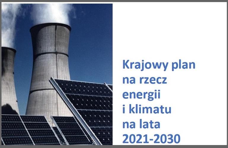 Konsultacje projektu Krajowego planu na rzecz energii i klimatu na lata 2021-2030