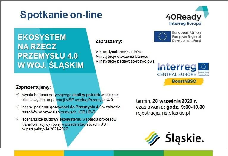 Ekosystem na rzecz Przemysłu 4.0 w województwie śląskim