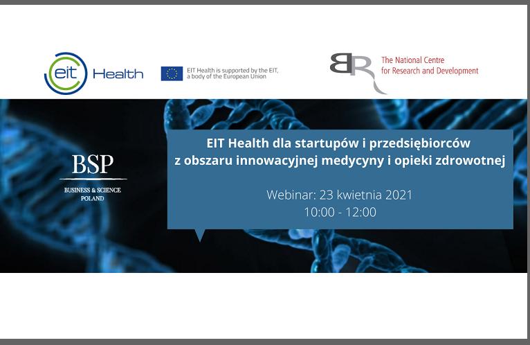 EIT Health dla startupów i przedsiębiorców z obszaru innowacyjnej medycyny i opieki zdrowotnej